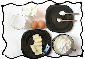 Caramel cake ingredients