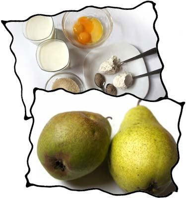 Pear custard pie filling ingredients