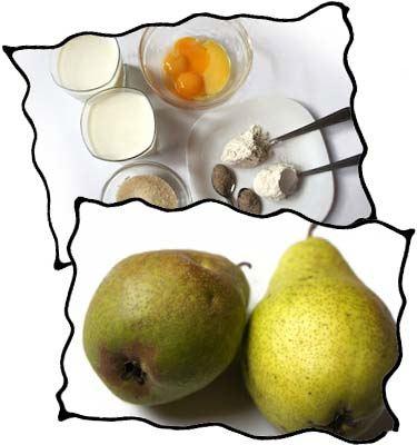 Pear custard pie filling ingredients