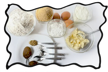 Spice cake ingredients