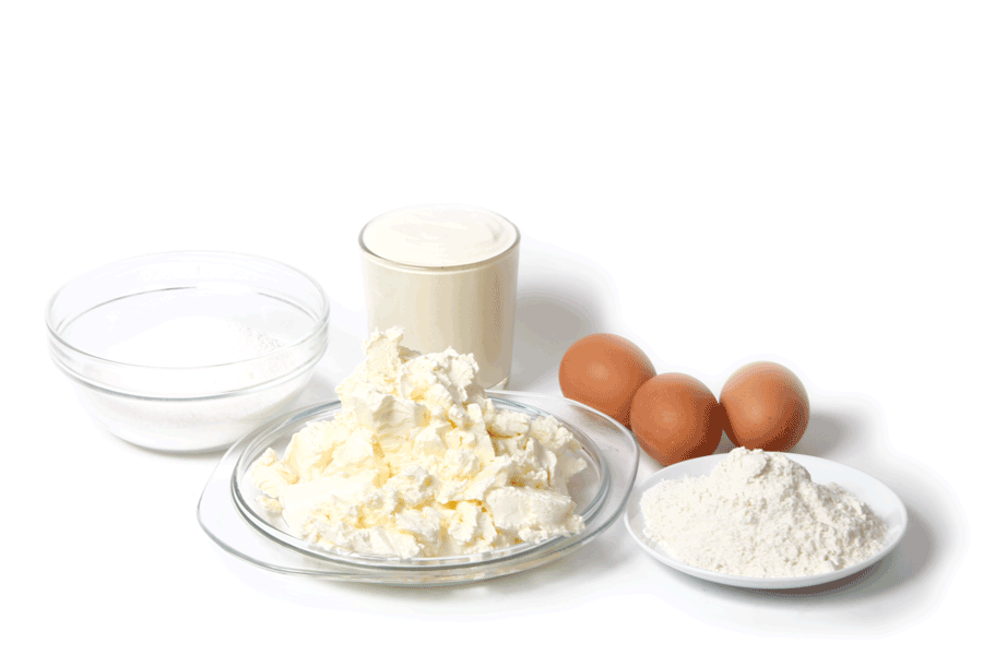Cheesecake ingredients