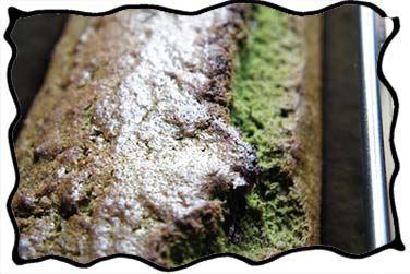 Baked mint chocolate cake before glazing