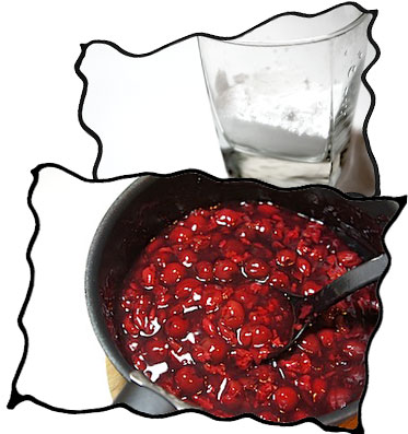 Ingredients for cherry filling