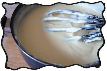 Making vanilla custard