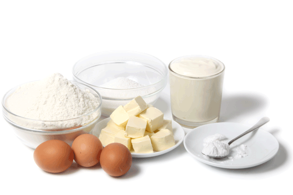 Pound or butter cake ingredients