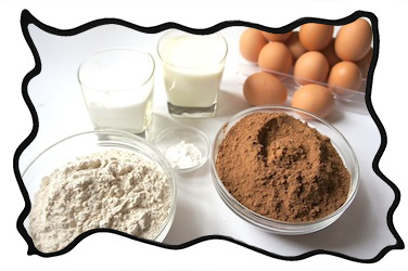 Black forest cake pastry ingredients