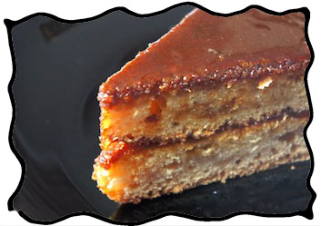 Caramel cake slice with that special burnt sugar flavor