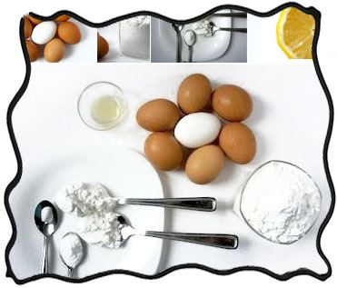Pavlova ingredients