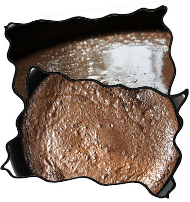Baking flourless chocolate cake: raw and ready!