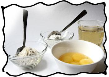 Champagne custard ingredients