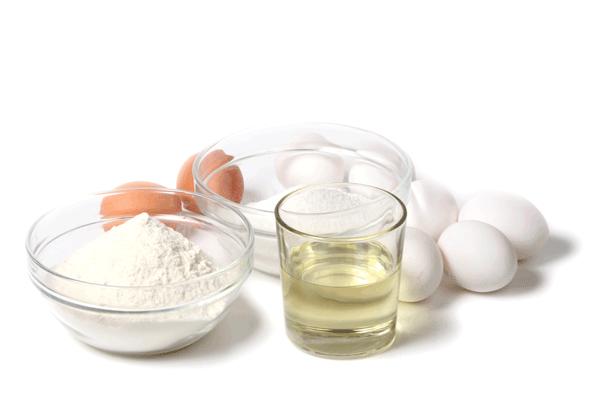 Basic chiffon cake ingredients